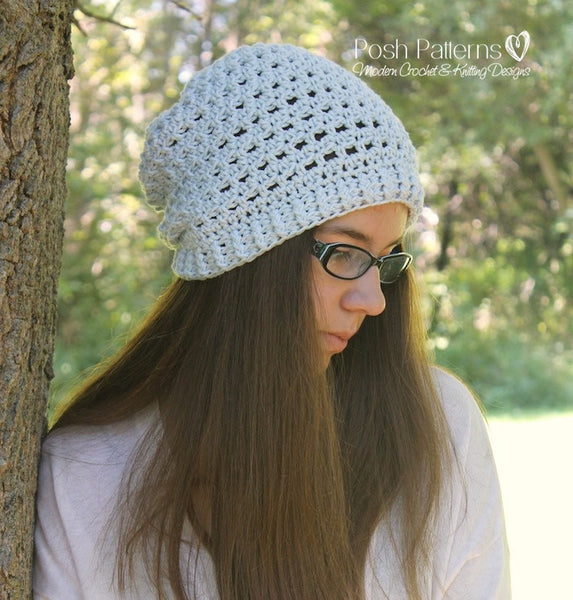 slouchy hat crochet pattern