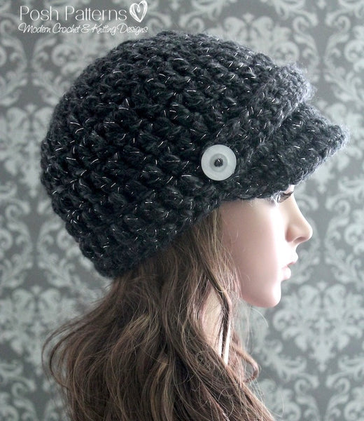 easy newsboy hat pattern