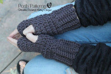 Load image into Gallery viewer, fingerless glove crochet pattern