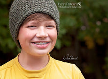 Load image into Gallery viewer, boys hat crochet pattern
