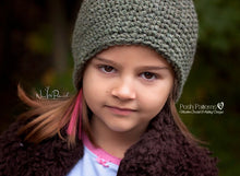 Load image into Gallery viewer, easy crochet beanie pattern