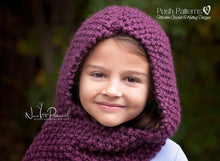 Load image into Gallery viewer, knit hooded scarf pattern