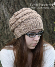 Load image into Gallery viewer, beehive knit hat pattern