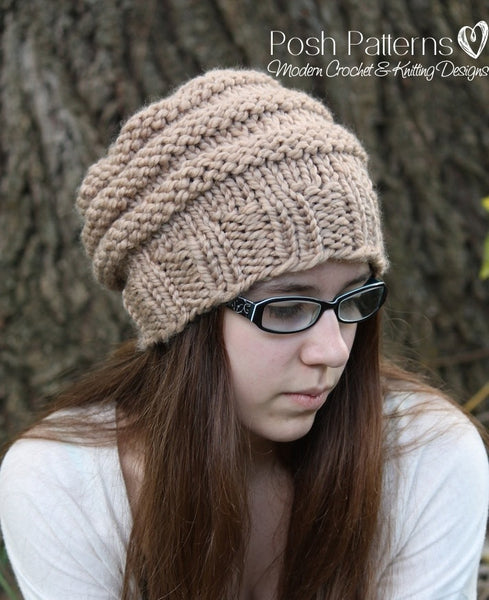 beehive knit hat pattern