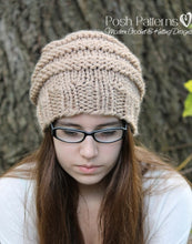 Load image into Gallery viewer, knitting pattern slouchy hat
