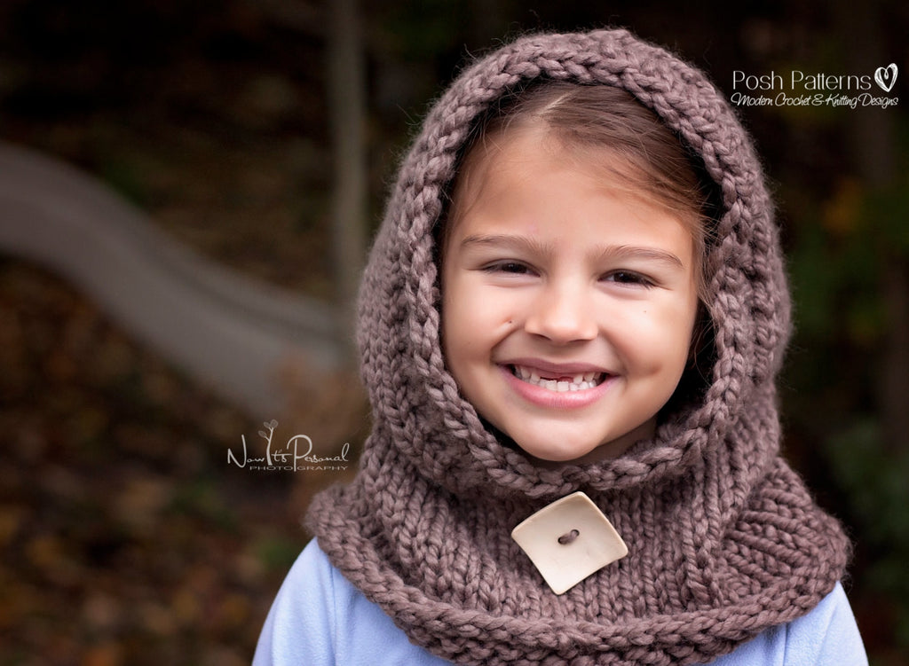 Knitting Pattern - Knit Hooded Cowl Pattern