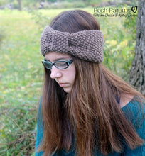 Load image into Gallery viewer, seed stitch headband knitting pattern