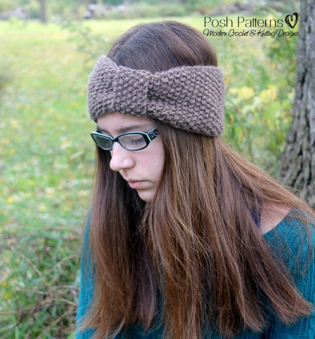seed stitch headband knitting pattern