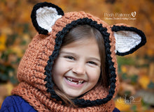 Load image into Gallery viewer, knit fox hood pattern