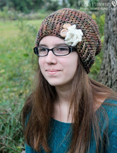 Load image into Gallery viewer, crochet slouchy beanie pattern