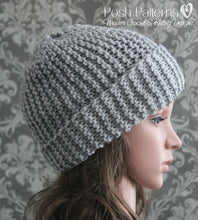 Load image into Gallery viewer, easy watch cap knitting pattern
