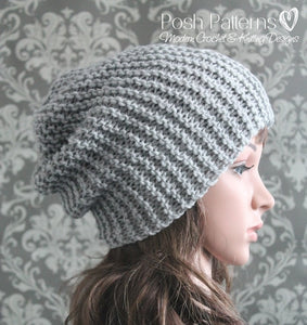 knitting pattern slouchy hat