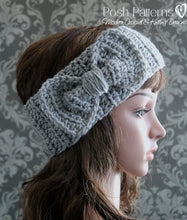 Load image into Gallery viewer, bow headband crochet pattern