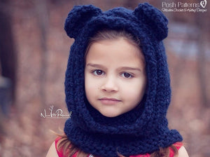 bear hood knitting pattern