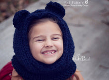 Load image into Gallery viewer, knit bear hood pattern