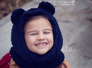 knit bear hood pattern