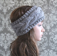 Load image into Gallery viewer, cable headband knitting pattern