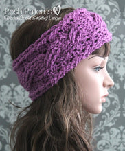 Load image into Gallery viewer, cable headband crochet pattern