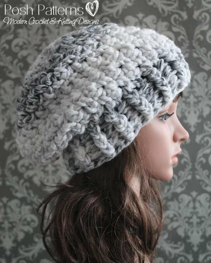 Crochet PATTERN - Easy Crochet Slouchy Hat Pattern