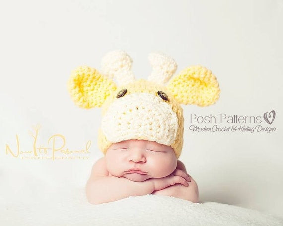 crochet giraffe hat pattern