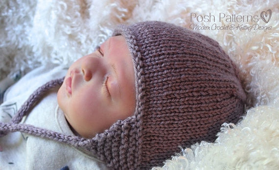 knit earflap hat pattern