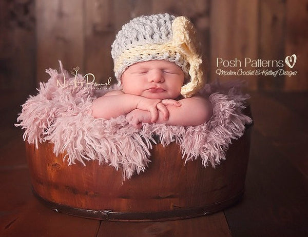 crochet pattern bow hat