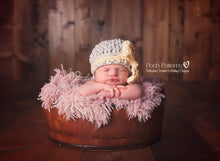 Load image into Gallery viewer, crochet bow hat pattern