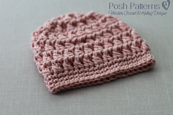 crochet cable hat pattern