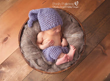Load image into Gallery viewer, stocking hat baby pants crochet pattern