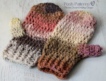 Load image into Gallery viewer, mittens crochet pattern