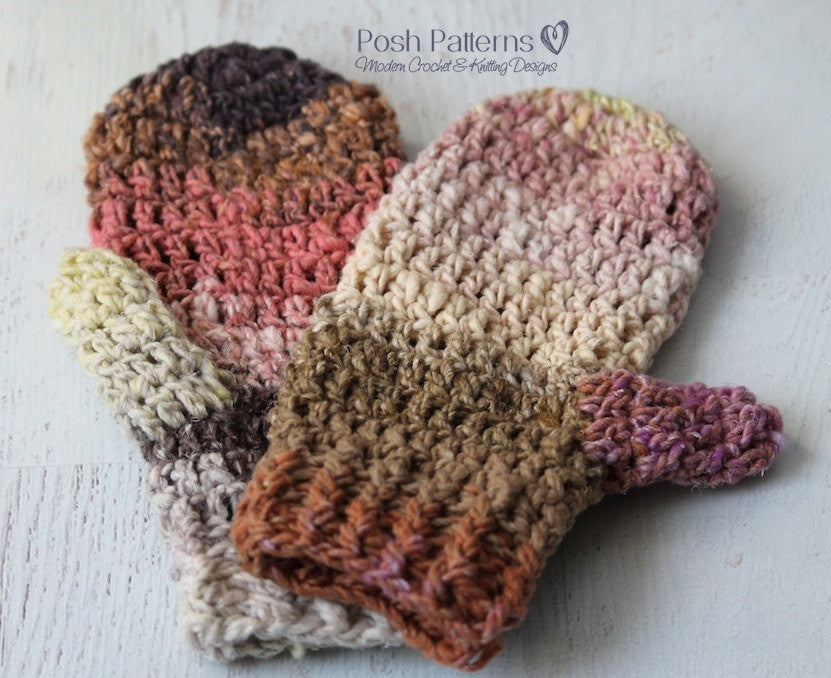 Crochet Pattern Easy Crochet Mittens Pattern