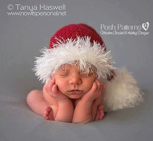 Load image into Gallery viewer, baby santa hat pattern