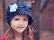 Load image into Gallery viewer, shell newsboy hat crochet pattern