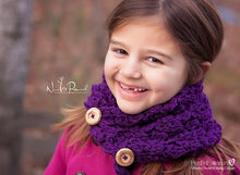 Load image into Gallery viewer, button cowl crochet pattern