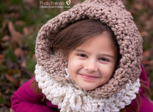 Load image into Gallery viewer, crochet hood pattern