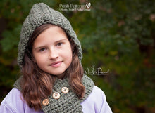 Load image into Gallery viewer, hooded cowl crochet pattern