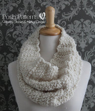 Load image into Gallery viewer, crochet infinity scarf pattern