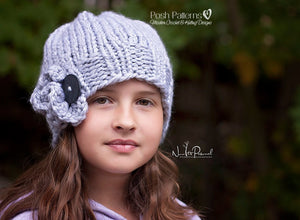 elegant knit hat pattern