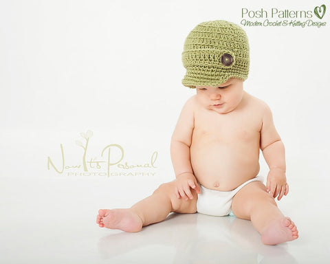 Crochet Pattern - Crochet Newsboy Hat Pattern