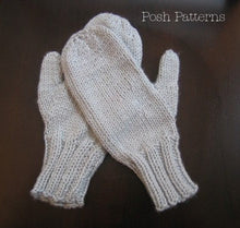Load image into Gallery viewer, two needle mittens knitting pattern