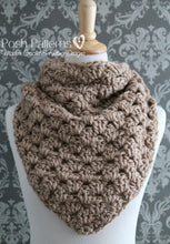 Load image into Gallery viewer, crochet triangle scarf pattern
