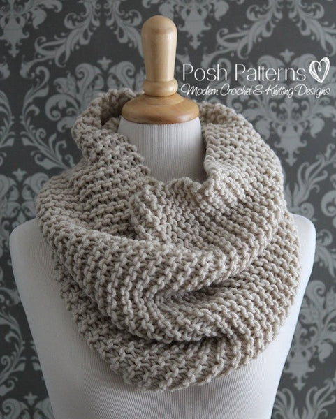 Knitting PATTERN - Easy Knit Cowl Pattern