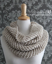 Load image into Gallery viewer, easy cowl knitting pattern