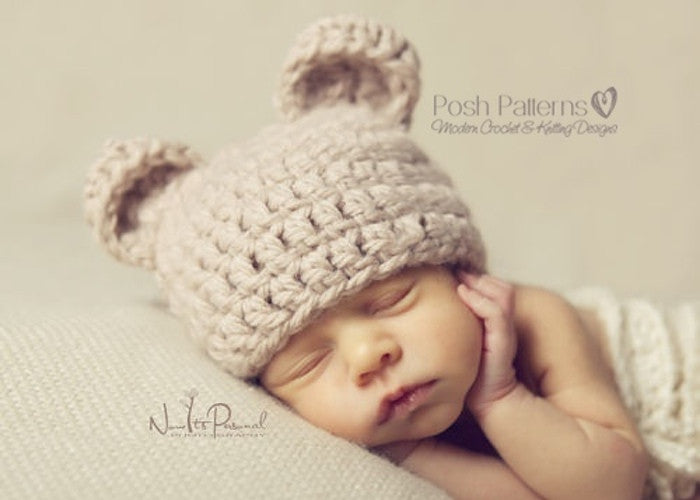 baby bear crochet hat pattern