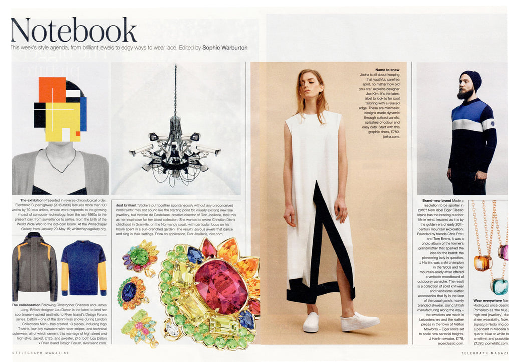 JAEHA Hawk Dress in The Daily Telegraph Magazine