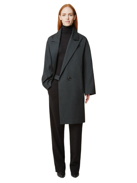MENO DARK GREY WOOL COAT