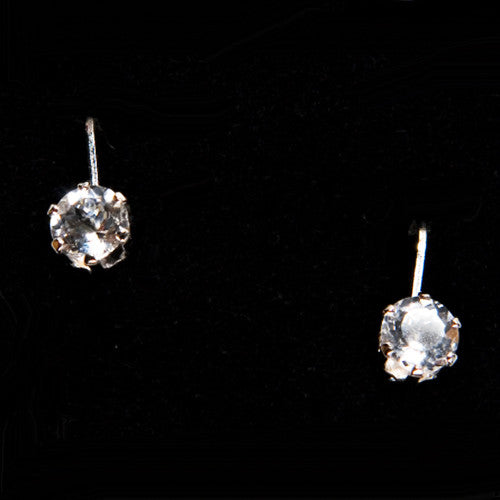 Cape May Diamond Leverback Earrings in Sterling Silver