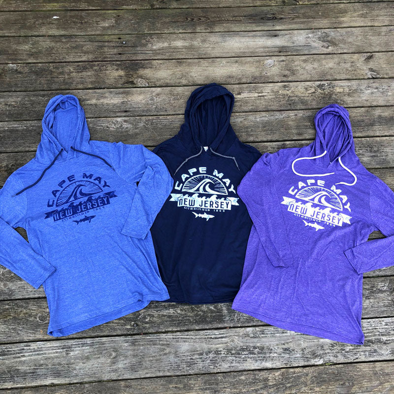 Cape May Wave Shark LS Hoodie