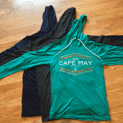 Cape May Point Hooded Long Sleeve Tee
