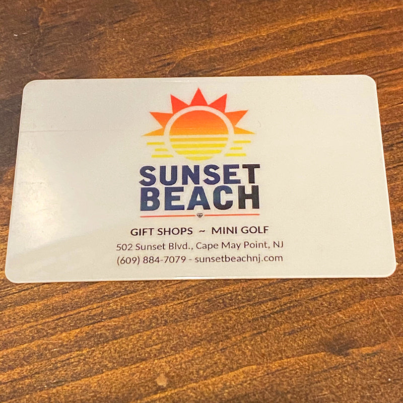 Sunset Beach Gift Card (In Store)